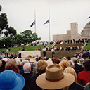 The gathering at the Australian War Memorial in remembrance of the 9,000 RAAF Bomber Command veterans of whom 3,486 were killed.