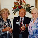 Jean (widow of Bill Gourlay, DFC) with Bill's squadron mate Ken Tweedie, DFC & wife Joan