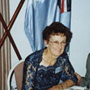 Brisbane, 2000. Mrs Peter Dunn, speaks with Kath and Joe Brown, DFM (Qld/Sec).