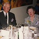 Adelaide, 1994, Harry (Cherry) Carter, Bert Newton (Engineer/Officer 460 squadron) and wife.