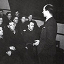 Briefing by Squadron Leader Leathedale, the Intelligence Officer.