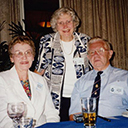 Jean again, with Bill's squadron mate Laurie Woods, DFC & wife Barbara.
