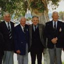 Adelaide Gathering December, 2002: L–R Len Fox, Don Williams, Laurie Bertram, Bob Bruce, Eric Germain, Ken Giles, DFM., Tom Dally, Ern Milde, Bryant Marshall,  Vic Grimmett, DFC., Don Gardrer.