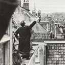 The Dutch people were so happy they climbed on the roofs of their homes to wave to the planes