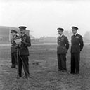 Final Parade, East Kirkby 460 Squadron October, 1945. DROs being read proclaiming the completion of 460 squadron tour of duty.