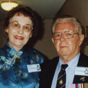 Brisbane, 2000 – Queensland President, Laurie Woods and wife Barbara.