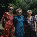 Wives of Members of 460 Squadron, Queensland, Armistice Day, 1995.Left to Right: Barbara Woods, Millie Cumming, Gloria Brough, Joan McKane, ?? Williams, Betty Bates, Fay Wheatley, Estelle Petersen.